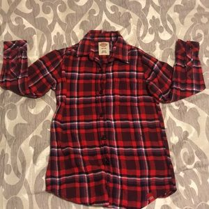 Girls Dickies plaid shirt